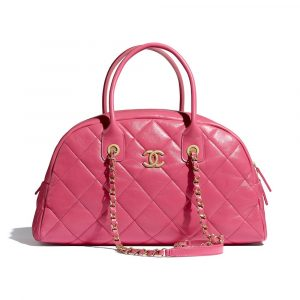 Chanel Pink Bowling Bag