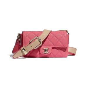 Chanel Coral Grained Calfskin Flap Bag