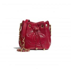 Chanel Red Mini Drawstring Bag