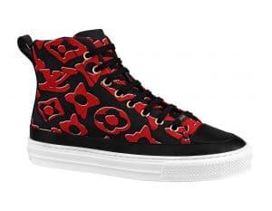 Louis Vuitton x Urs Fischer Black/Red Sneaker Boot