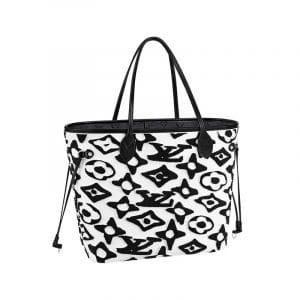 Louis Vuitton x Urs Fischer Black/White Neverfull Bag