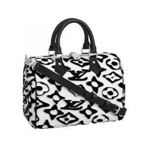 Louis Vuitton x Urs Fischer Black/White Speedy Bandoulière Bag