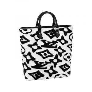 Louis Vuitton x Urs Fischer Black/White Cabas Bag