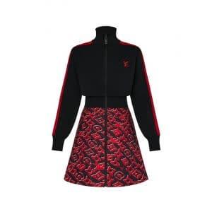 Louis Vuitton x Urs Fischer Red/Black Dress