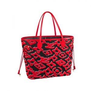 Louis Vuitton x Urs Fischer Red/Black Neverfull Bag