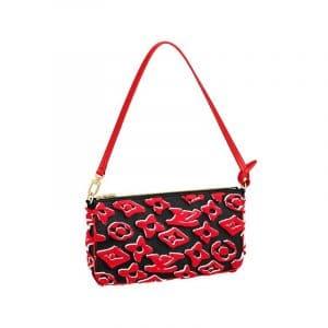 Louis Vuitton x Urs Fischer Red/Black Pochette Accesoires