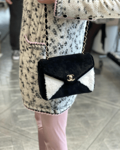 Chanel Shearling Black and White Bag - Prefall 2021