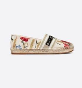 Dior Granville Espadrille Hibiscus - Spring 2021