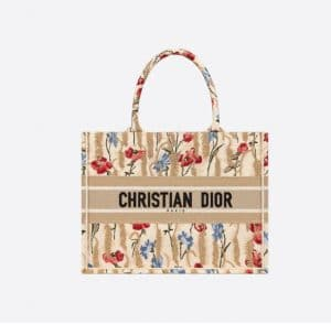 Dior Small Book Hibiscus Tote Bag - Spring 2021