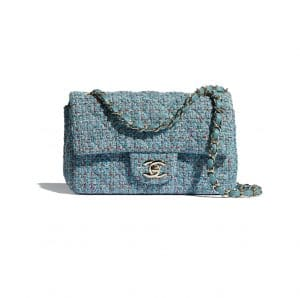 Chanel Blue Tweed Flap Bag - Spring 2021