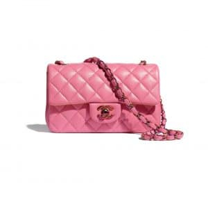 Chanel Rainbow Metal Pink Flap Bag