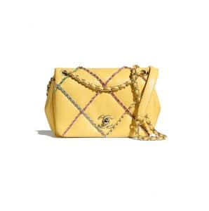Chanel Yellow Mini Flap Bag with Entwined chain - Spring 2021