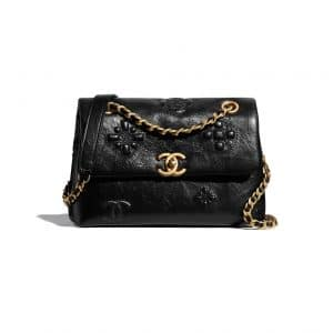 Chanel Embossed Shiny Calfskin Bag