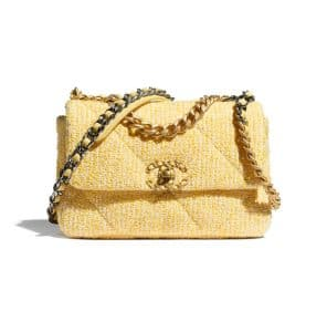 Chanel 19 Small Tweed Yellow Bag - Cruise 2021