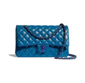 Chanel Rainbow Metal Blue Flap Bag - Spring 2021