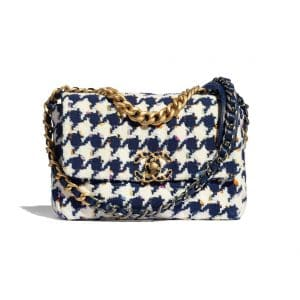 Chanel 19 Houndstooth Navy - Spring 2021