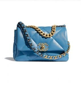 Chanel 19 Blue Lambskin bag - Spring 2021