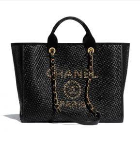 Chanel Black Raffia Tote - Spring 2021