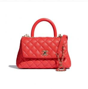 Chanel Red Small Coco Handle Bag - Spring 2021