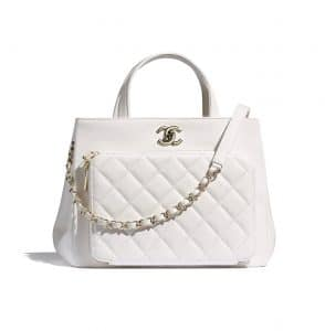 Chanel White Business Affinity Bag - Spring 2021