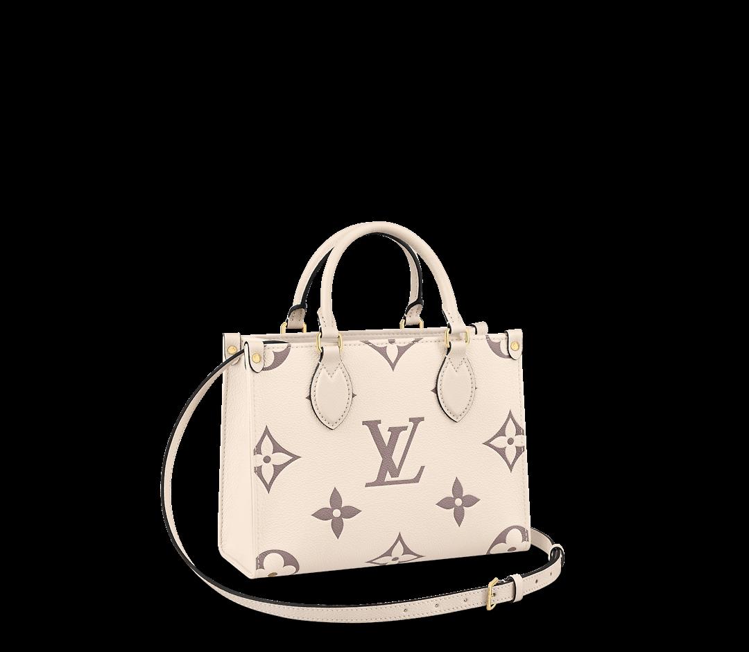 vuitton louis pm onthego empreinte 2021 monogram colors leather handbags bicolor lv styles spring cream