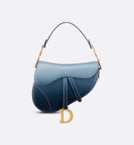 Dior Indigo Blue Ombre Saddle - Spring 2021
