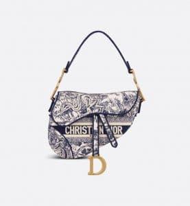 Dior Toile de Jouy Saddle - Spring 2021