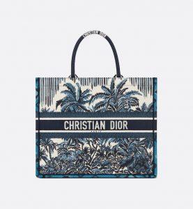 Dior Blue Palms Book Tote - Spring 2021
