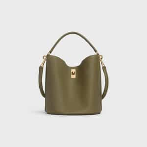 Celine Dark Olive Bucket 16 Bag