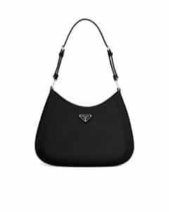 Prada Black Brushed Leather Large Shoulder/Crossbody Bag