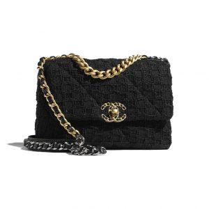 Chanel 19 Black Tweed Bag - Spring 2021