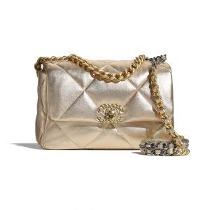 Chanel 19 Gold Flap Bag - Spring 2021