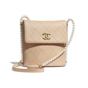 Chanel Beige Pearl Hobo Bag - Spring 2021
