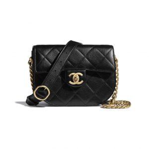 Chanel Black Mini Flap Bag - Spring 2021
