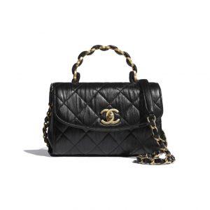 Chanel Black Mini Top Handle Bag - Spring 2021