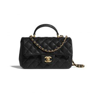 Chanel Black Small Top Handle Bag - Spring 2021
