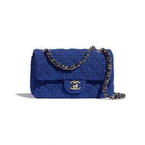 Chanel Blue Tweed Flap Bag - Spring 2021