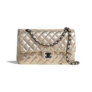 Chanel Gold Classic Black Hardware Bag - Spring 2021