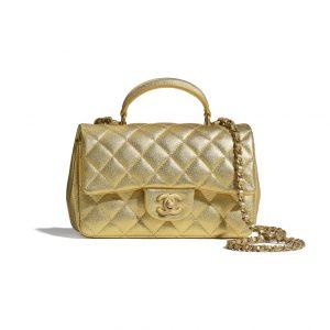 Chanel Gold Mini Top Handle Bag - Spring 2021