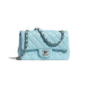 Chanel Light Blue Mini Flap Bag - Spring 2021