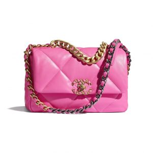 Chanel Neon Pink 19 Flap Bag - Spring 2021