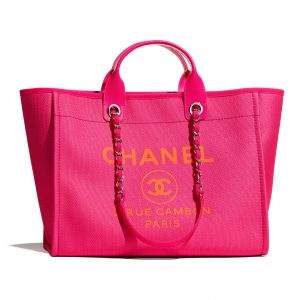 Chanel Neon Pink Deauville Tote - Spring 2021