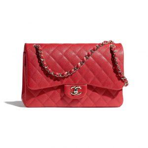 Chanel Red Jumbo Flap Bag - Spring 2021
