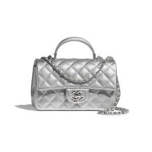 Chanel Silver Top Handle Bag - Spring 2021