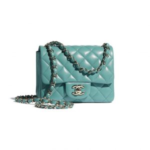 Chanel Square Turquoise Flap Bag - Spring 2021