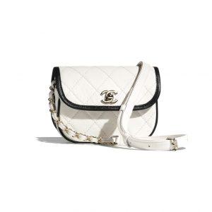 Chanel Two Tone White Messenger Bag - Spring 2021