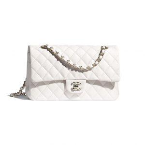 Chanel White Calfskin Flap Bag - Spring 2021