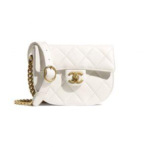 Chanel White Small Messenger Bag - Spring 2021