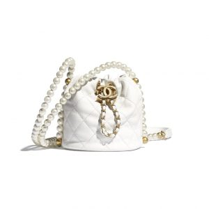 Chanel White Small Pearl Messenger Bag - Spring 2021