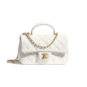 Chanel White Small Top Handle - Spring 2021